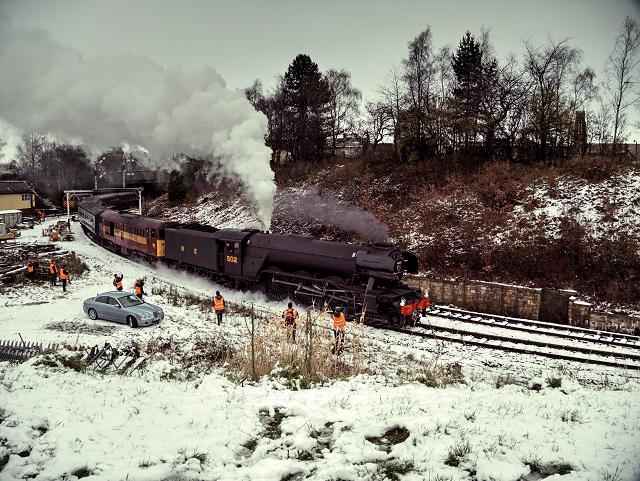 Flying Scotsman at Bury, January 2016 (Scotsman in Steam Weekend)