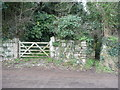 SW7532 : Gate and footpath opposite the church, Mabe by Humphrey Bolton
