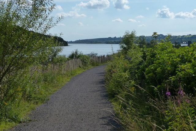 Path along the shoreline of Carsington Water