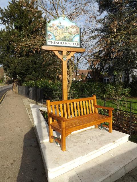 Wheathampstead Village sign