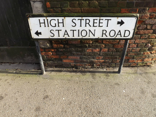 High Street & Station Road sign