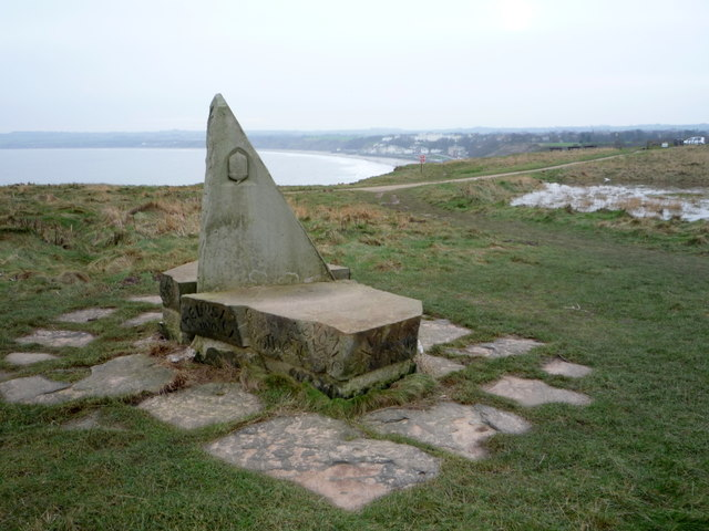 Stone marker for the Wolds Way Footpath