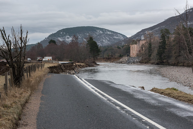 A93 at Micras after the flood
