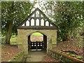 SJ7761 : St John's, Sandbach Heath: lych gate by Stephen Craven