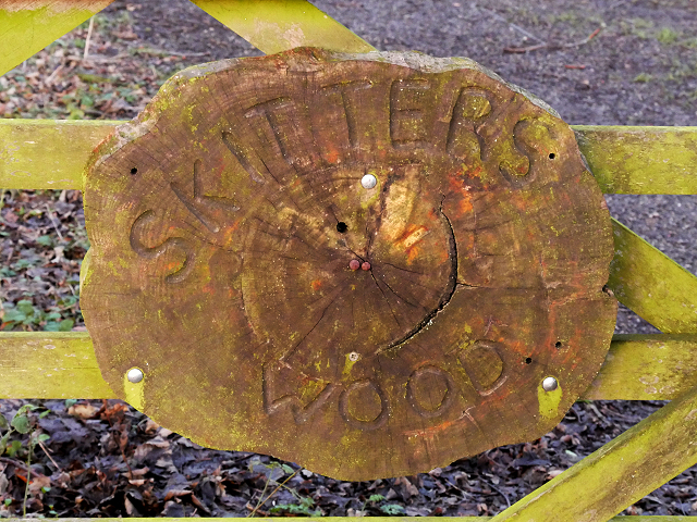 Skitters Wood Sign