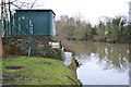 SP2965 : The remote gauging station by the River Avon, southeast Warwick 2016-01-23 by Robin Stott