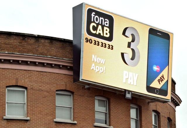 Digital advertisement, Shaftesbury Square, Belfast - January 2016(2)