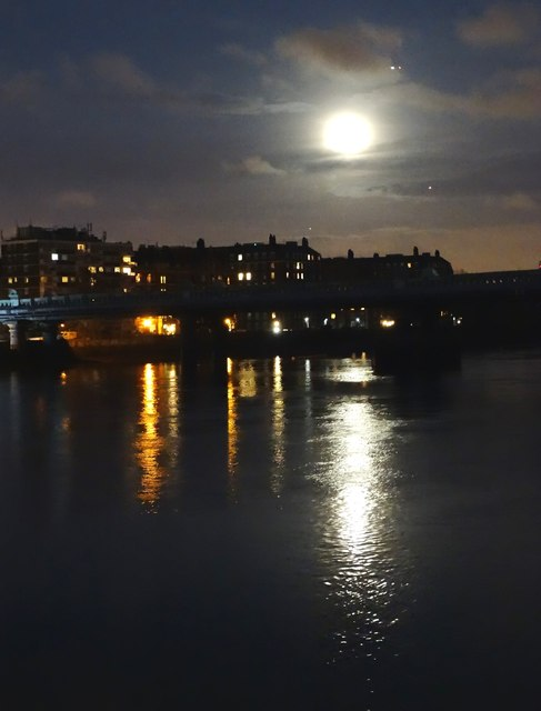 Moonlight on The Thames from Putney Wharf