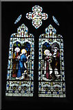 SO9422 : Stained glass window, Cheltenham Minster, St Mary's by Philip Halling
