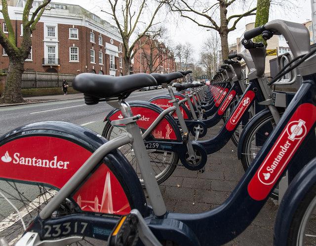 Santander Cycles on Borough Road