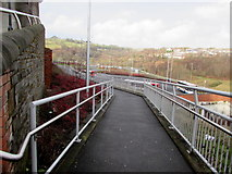 ST1599 : Path down to Bargoed bus station by Jaggery