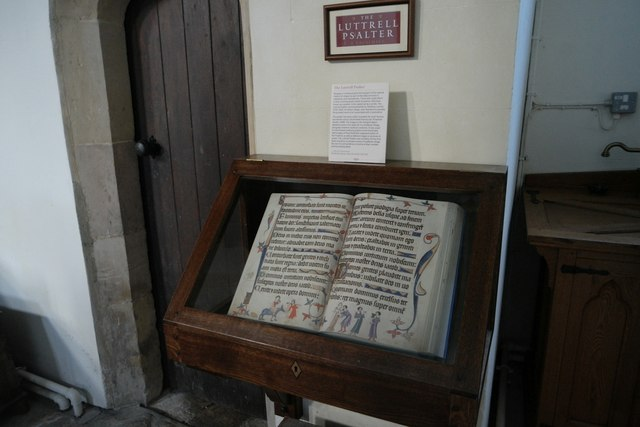 St Andrew's church: Replica of Luttrell Psalter