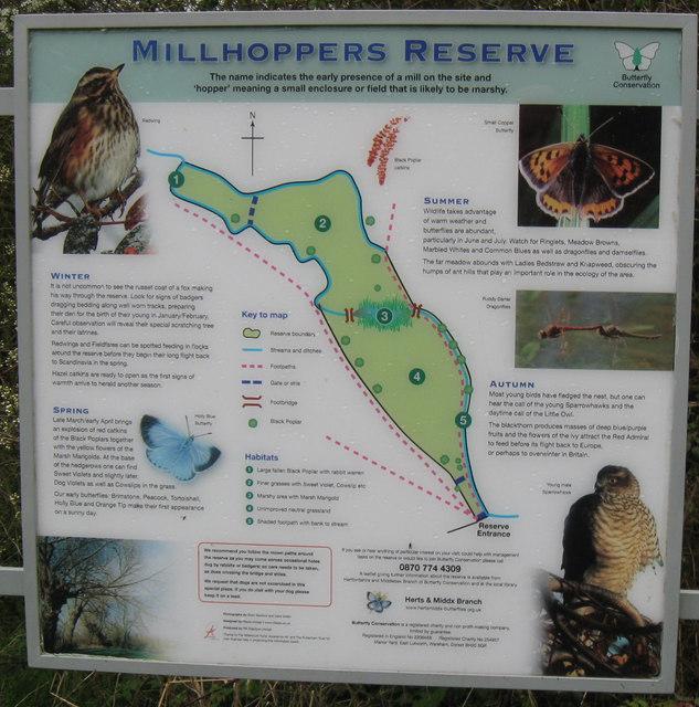 Millhoppers Reserve Information Board
