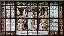 TQ2982 : St Pancras, Euston Road, NW1 - Stained glass window by John Salmon