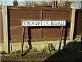 TL1413 : Cravells Road sign by Adrian Cable