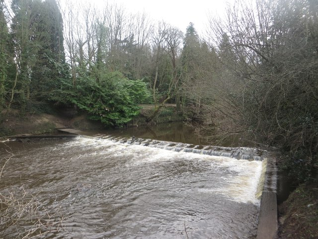Weir on the River Wansbeck at Bothal