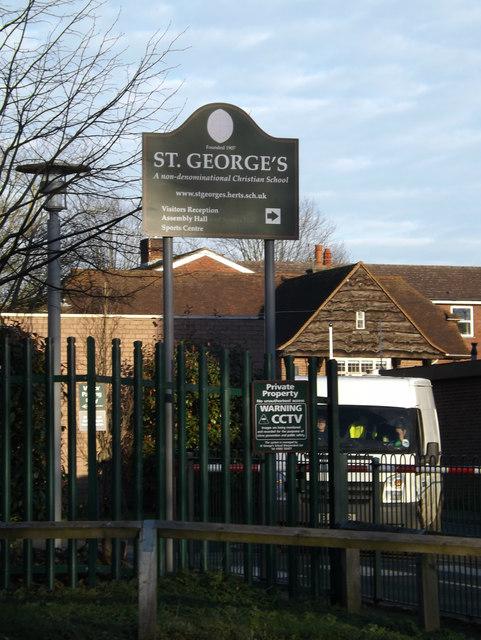 St.George's School sign
