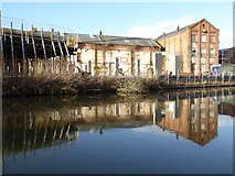 SO8554 : Former factory buildings by Philip Halling
