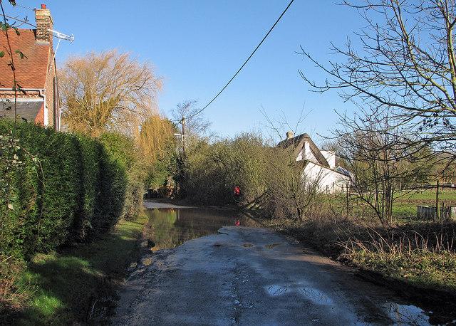 Dry Drayton: flooding in Park Lane