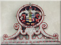 SK7654 : Crest on Monument to Sir William Sutton by Julian P Guffogg