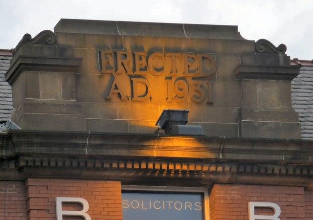Erected A.D. 1931