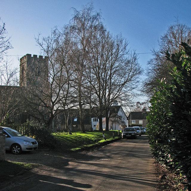 Oakington: High Street in January