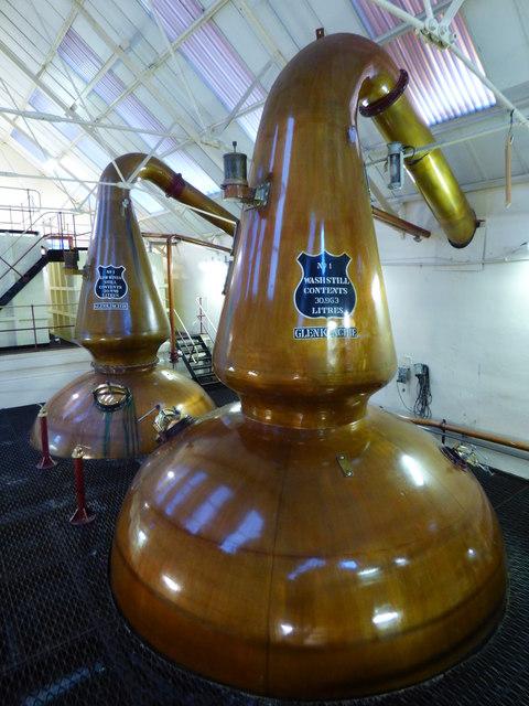 Wash and Low Wines Stills at Glenkinchie Distillery