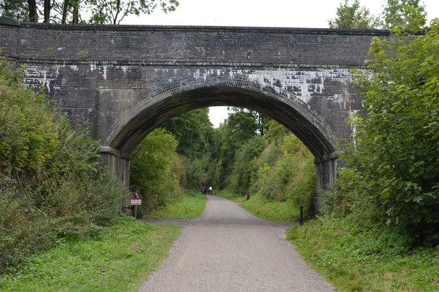 Access bridge over the Monsal Trail