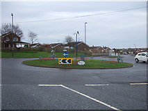 TA1181 : Roundabout on Scarborough Road, Filey by JThomas