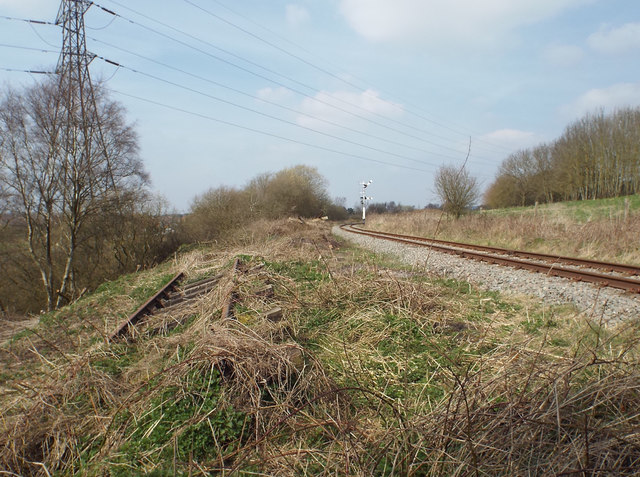 Discarded and operational track, Chasewater light railway