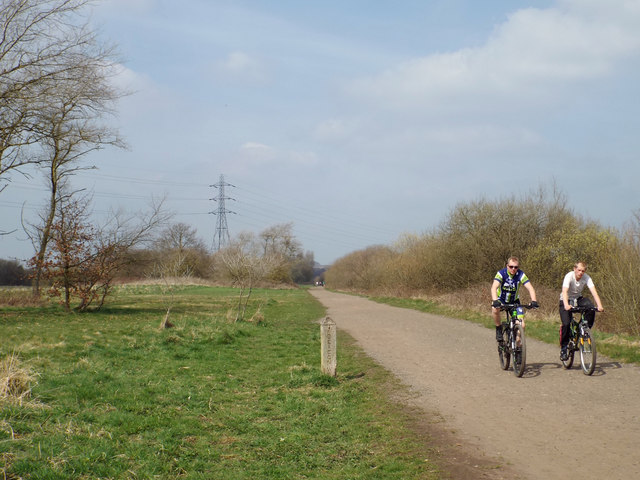 Cycling in Chasewater country park near Norton Canes