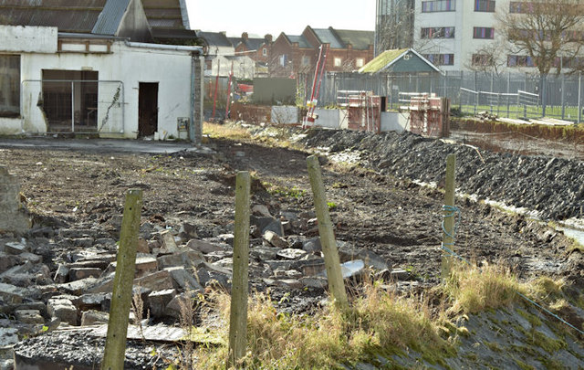Connswater path works, Belfast - January 2016(3)