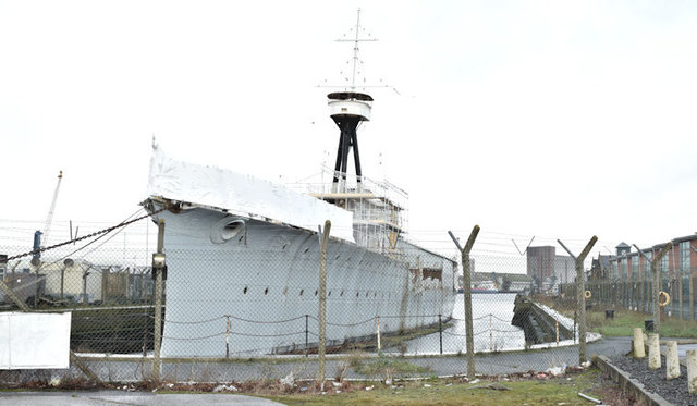 """HMS """"Caroline"""", Belfast - January 2016(2)"""