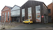 SE2932 : Round Foundry Media Centre, Leeds: east entrance by Stephen Craven