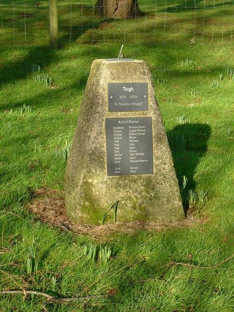 Memorial sundial, Teigh