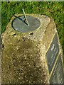 SK8616 : Sundial on the 'Thankful' memorial by Alan Murray-Rust