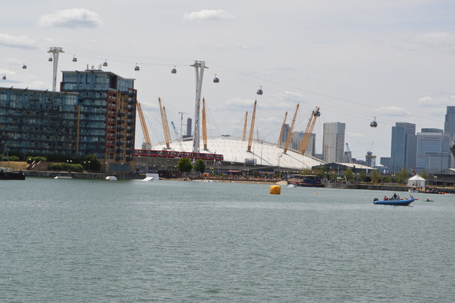 O2 Arena seen from Royal Victoria Dock