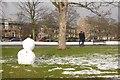 NT2472 : Snowman, Bruntsfield Links by Richard Webb
