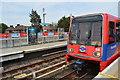 TQ4080 : DLR train at Royal Victoria Station by N Chadwick