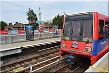 TQ4080 : DLR train at Royal Victoria Station by N Chadwick