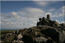 SM8938 : Garn Fawr trigpoint by Becky Williamson