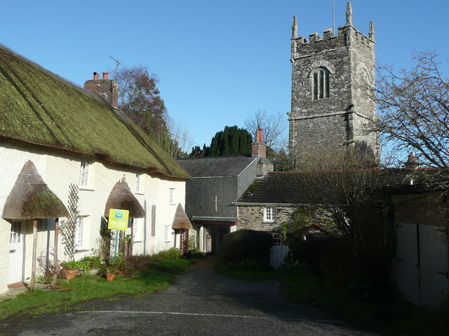 Church Cottage and lych-gate, St Clement's