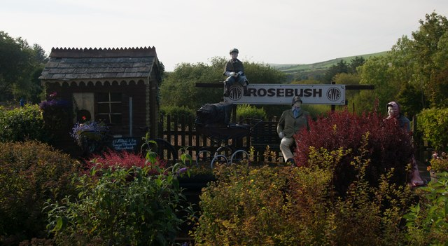 Erstwhile Rosebush Station at Tafarn sinc