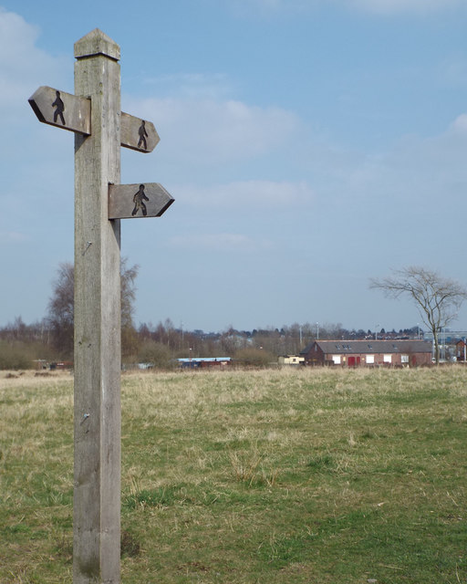 Fingerpost not far from Chasewater Heaths station, Chasetown