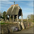 SK8613 : Lych gate, Ashwell churchyard by Alan Murray-Rust