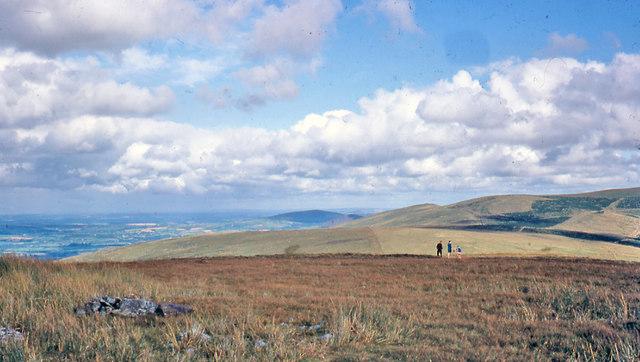 Eastward view from Foel Eryr summit, 1968