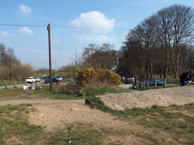 People pressure near the beach, Chasewater country park