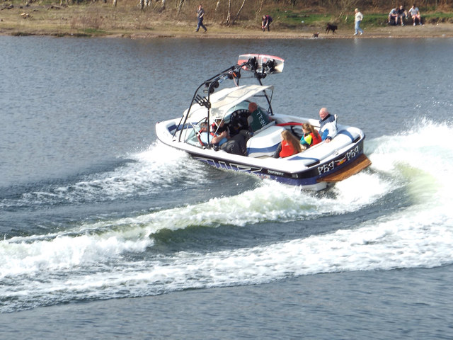 Swoosh! Family party in a motor launch at Chasewater
