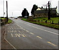 ST4587 : Llanfihangel Rogiet bus stop near Green Farm by Jaggery
