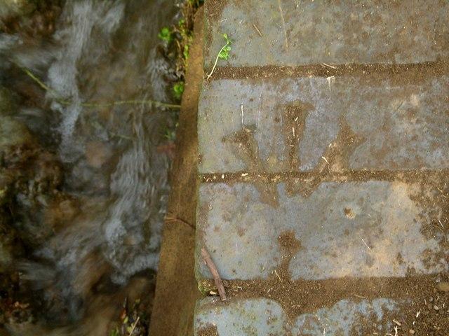 Rivet bench mark, Oakham Road culvert